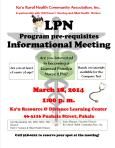 LPN Informational Meeting flier