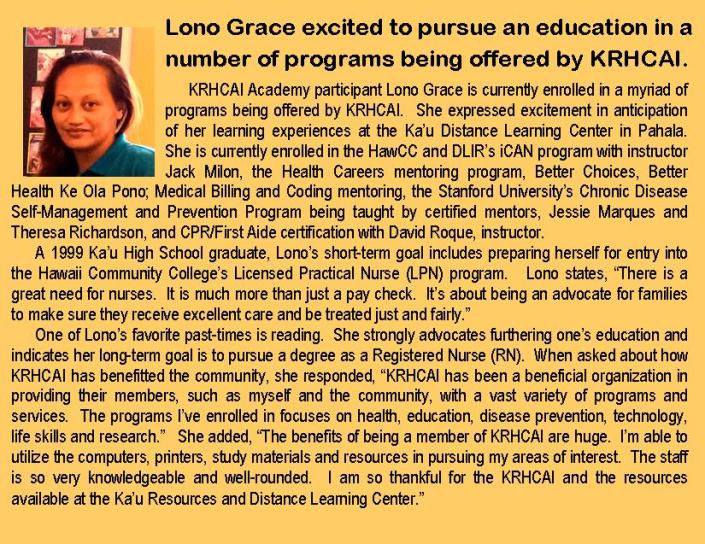 Lono Grace Grass Roots article