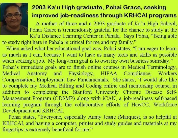 Pohai Grace Grass Roots article