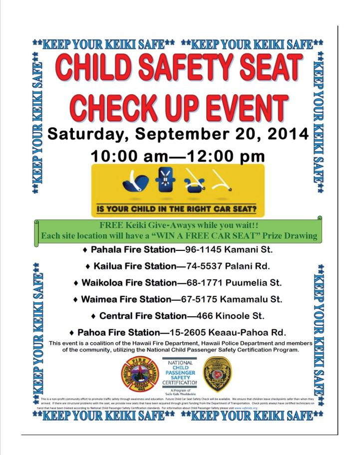 Child Safety Seat Flier
