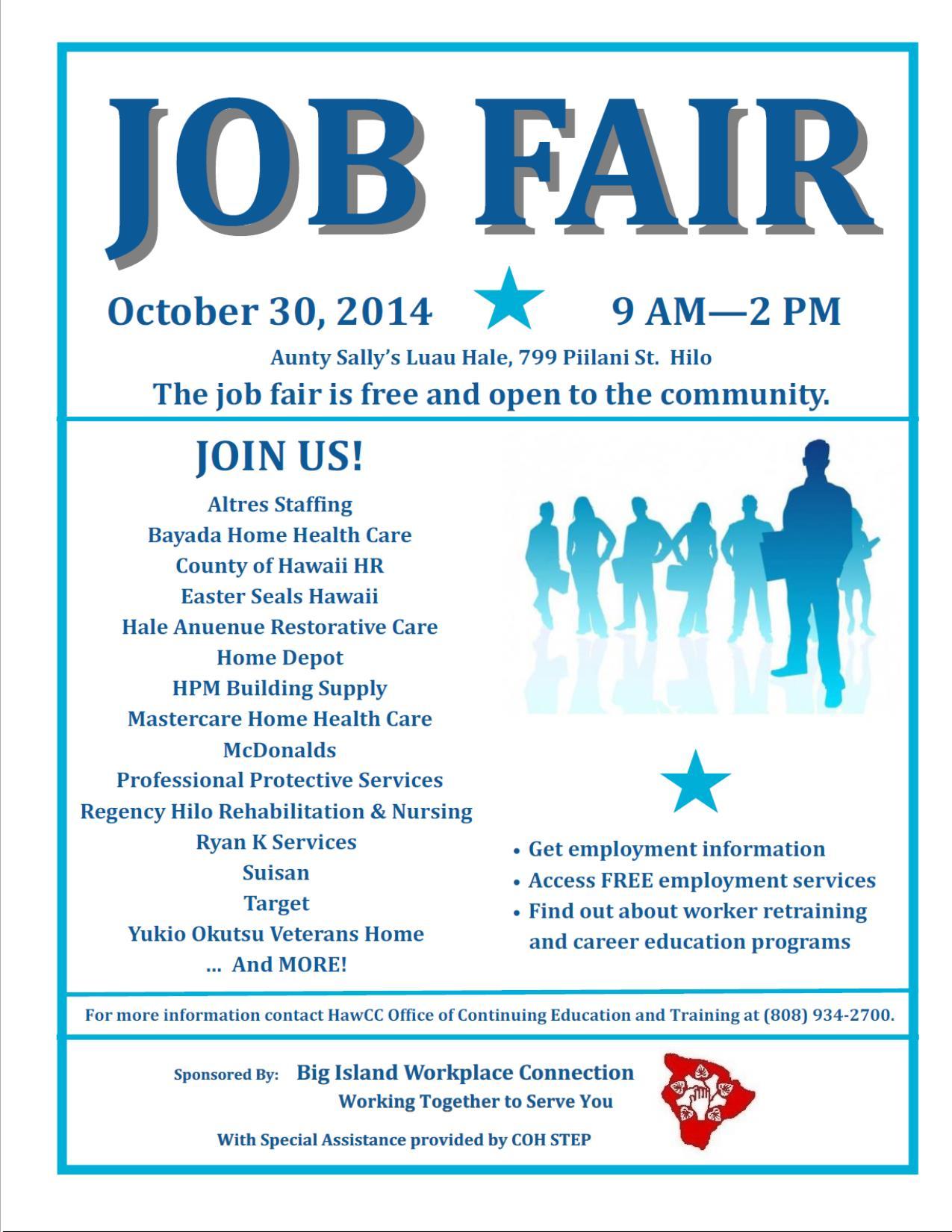 Job Fair – October 30 – Big Island Workplace Connection « Ka\'u Rural ...