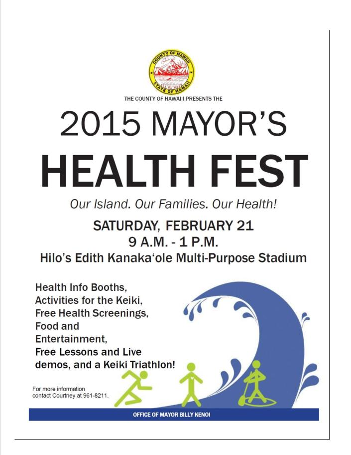 Mayor's Health Fest Flyer
