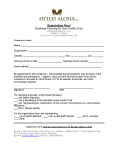 Hiilei Aloha, LLC - Registration Form