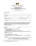 Hiilei Aloha, LLC - Registration Form