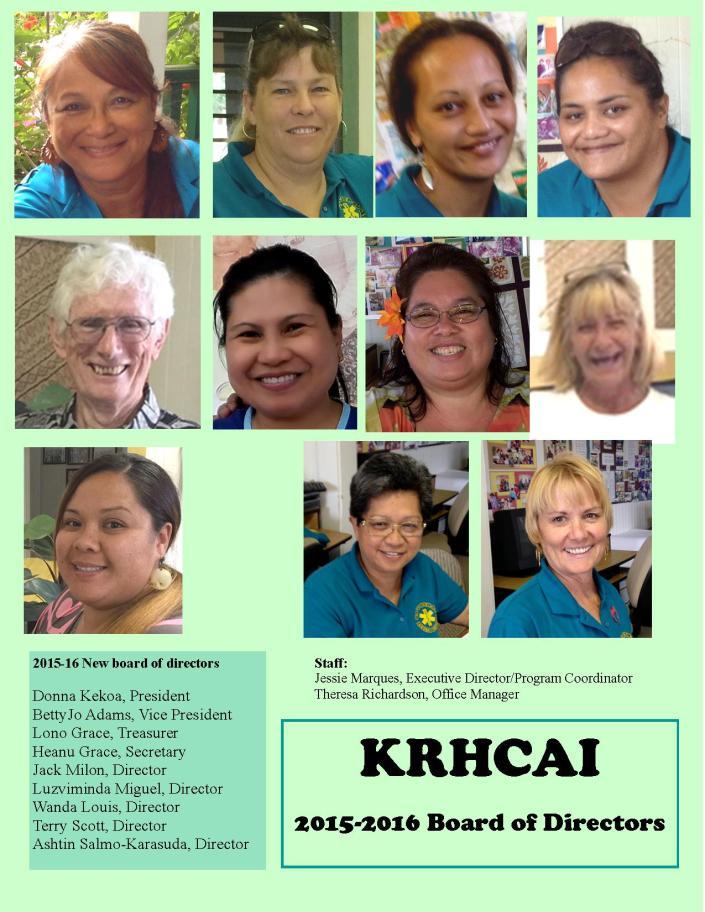 2015 2016 KRHCAI BOD