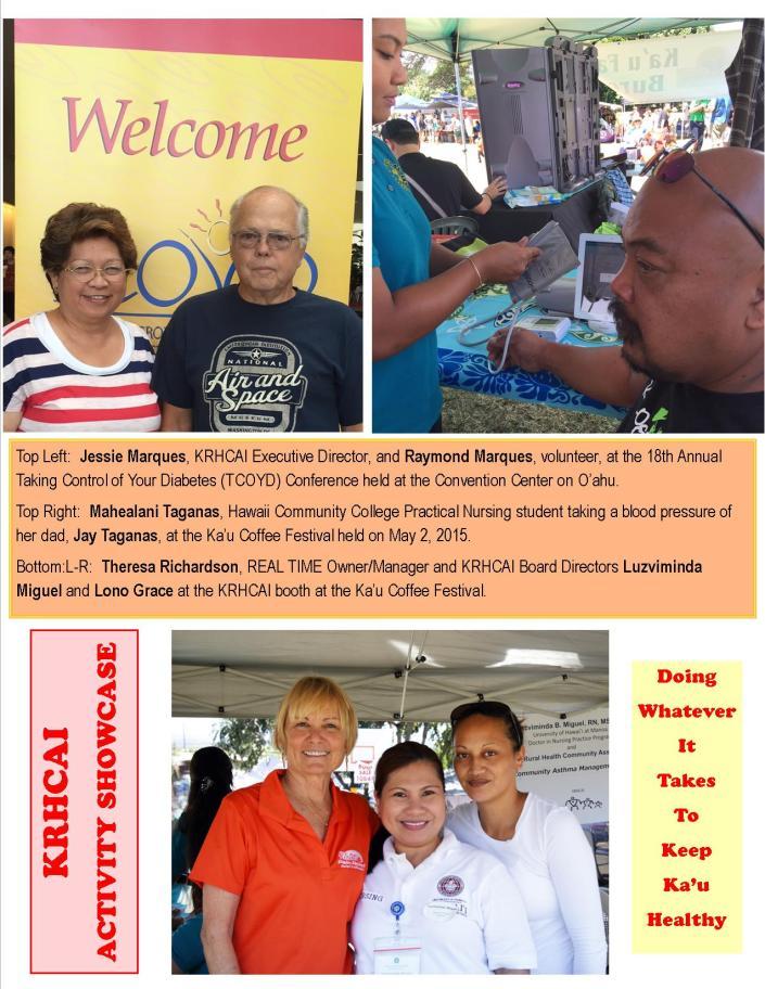 KRHCAI Activity Showcase May 2015