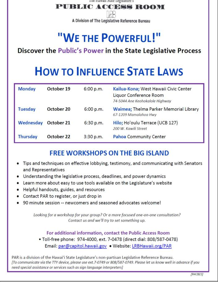 PAR How to Influence State Laws